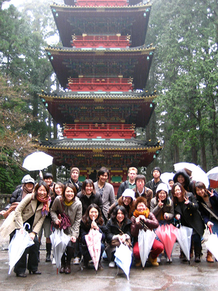 LC students at Nikko